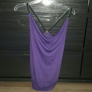 Zipper purple tank